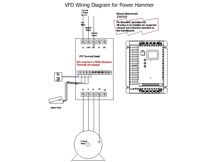 vfd connection diagram